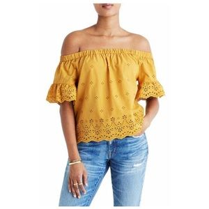Madewell Eyelet Off the Shoulder Top